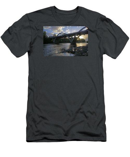 Caveman Bridge At Sunset Men's T-Shirt (Athletic Fit)