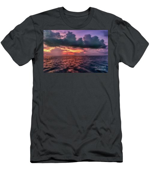 Men's T-Shirt (Slim Fit) featuring the photograph Cebu Straits Sunset by Adrian Evans