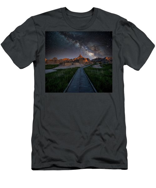 Men's T-Shirt (Athletic Fit) featuring the photograph Cedar Pass Milky Way by Darren White