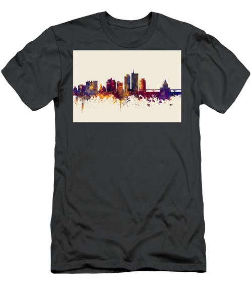 Cedar Rapids Iowa Skyline Men's T-Shirt (Athletic Fit)