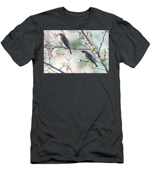 Cedar Wax Wing Pair Men's T-Shirt (Slim Fit) by Jim Fillpot