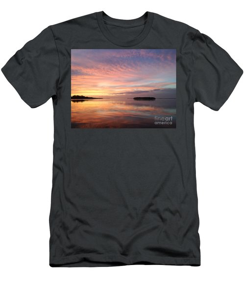 Celebrating Sunset In Key Largo Men's T-Shirt (Athletic Fit)