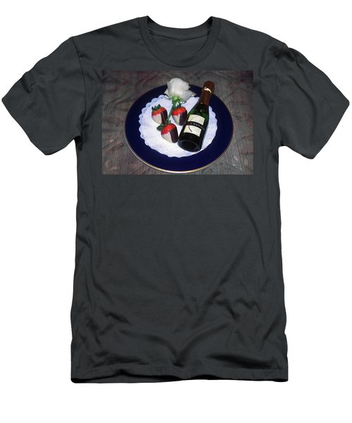 Men's T-Shirt (Slim Fit) featuring the photograph Celebration Plate by Sally Weigand