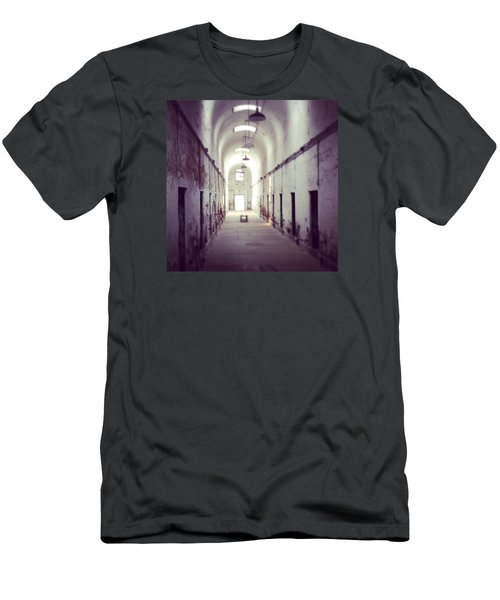 Cell Block Eastern State Penitentiary Men's T-Shirt (Slim Fit) by Sharon Halteman