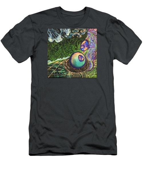 Cell Interior Microbiology Landscapes Series Men's T-Shirt (Slim Fit) by Emily McLaughlin