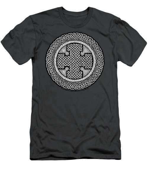 Men's T-Shirt (Slim Fit) featuring the mixed media Celtic Cross by Kristen Fox