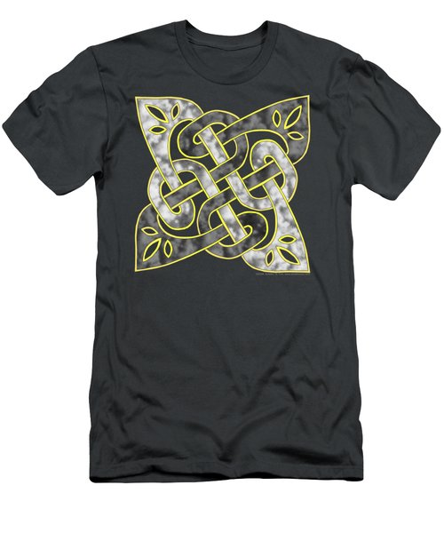 Men's T-Shirt (Slim Fit) featuring the mixed media Celtic Dark Sigil by Kristen Fox