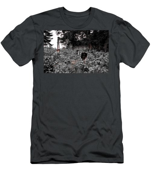 Cemetery In Red Men's T-Shirt (Athletic Fit)