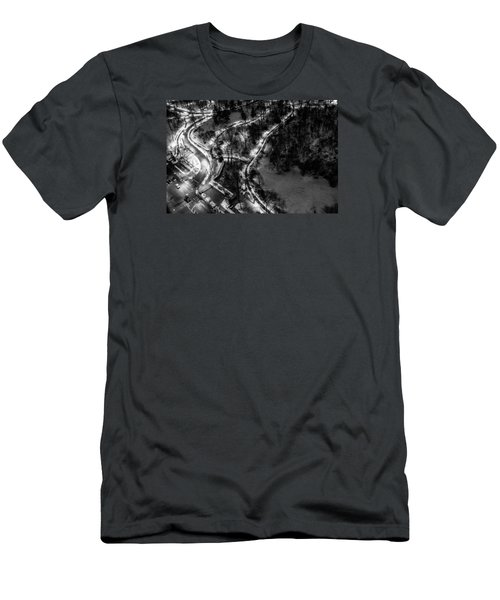 Men's T-Shirt (Slim Fit) featuring the photograph Central Park Trails by M G Whittingham