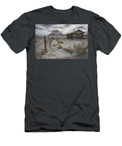Men's T-Shirt (Slim Fit) featuring the tapestry - textile Cerro Castellan - Big Bend  by Kathy Adams Clark