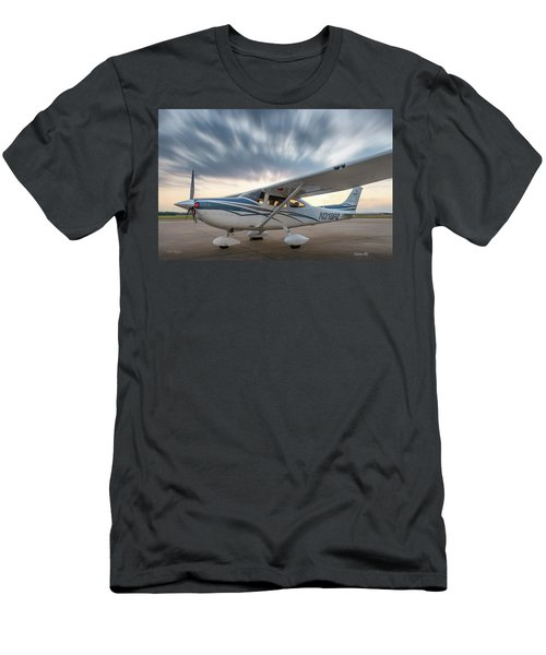 Cessna 182 On The Ramp Men's T-Shirt (Athletic Fit)