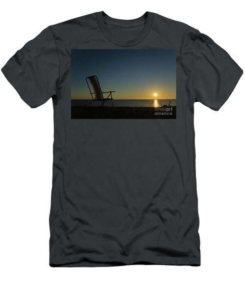 Men's T-Shirt (Slim Fit) featuring the photograph Chair By The Setting Sun by Kennerth and Birgitta Kullman