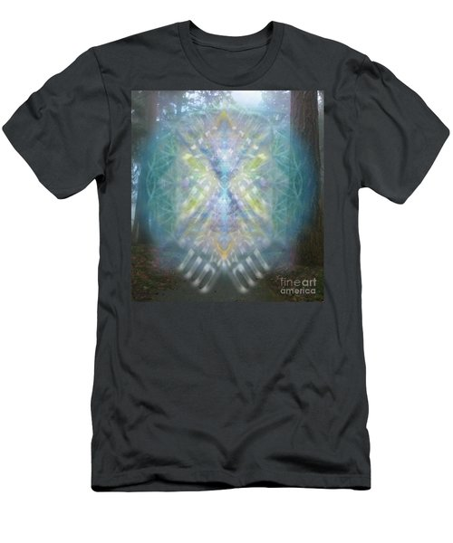 Men's T-Shirt (Slim Fit) featuring the digital art Chalice-tree Spirit In The Forest V1 by Christopher Pringer