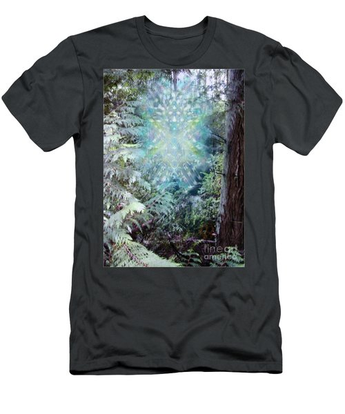 Men's T-Shirt (Slim Fit) featuring the digital art Chalice-tree Spirit In The Forest V3 by Christopher Pringer