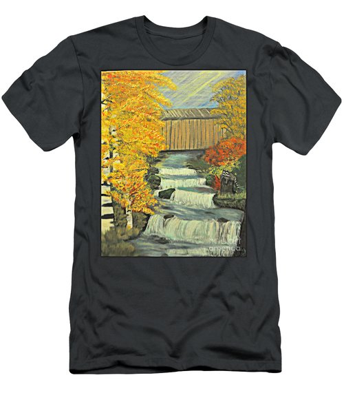 Chambers Covered Bridge  Men's T-Shirt (Athletic Fit)