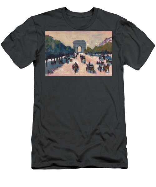 Champs Elysees Paris Men's T-Shirt (Athletic Fit)