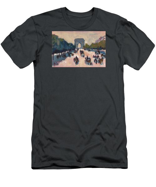 Champs Elysees Paris Men's T-Shirt (Athletic Fit)