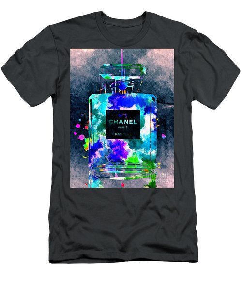 Chanel No 5 Dark Grunge Men's T-Shirt (Slim Fit) by Daniel Janda