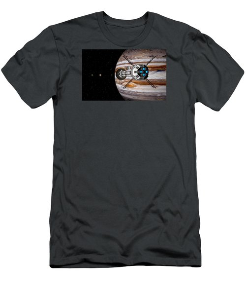 Men's T-Shirt (Slim Fit) featuring the digital art Changing Course by David Robinson