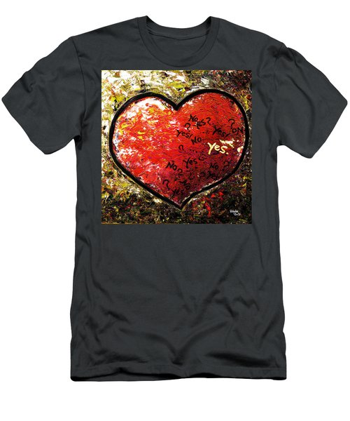Chaos In Heart Men's T-Shirt (Athletic Fit)