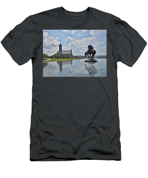 Chapel And Infinity Pool Men's T-Shirt (Slim Fit) by Julie Grace