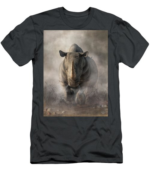 Charging Rhino Men's T-Shirt (Athletic Fit)