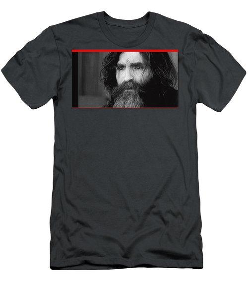 Charles Manson Screen Capture Circa 1970-2015 Men's T-Shirt (Athletic Fit)