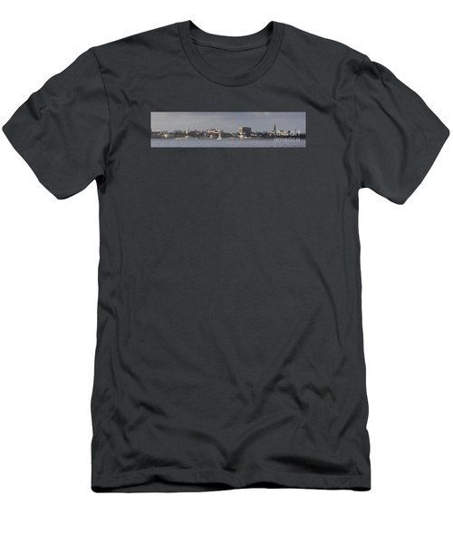 Charleston Sc Panorama Men's T-Shirt (Athletic Fit)