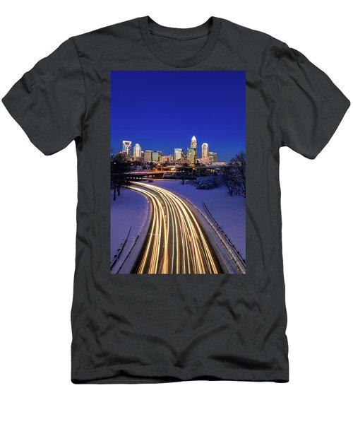 Charlotte Winter Skyline Men's T-Shirt (Athletic Fit)
