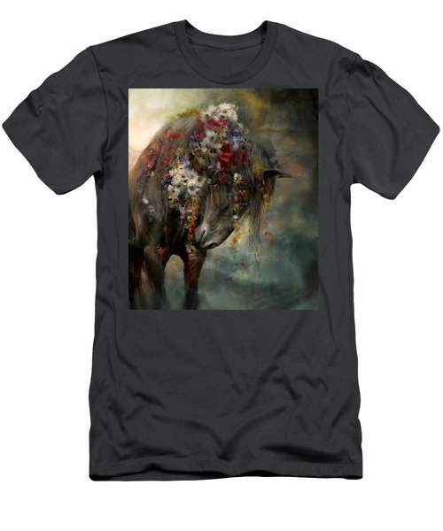 Men's T-Shirt (Slim Fit) featuring the painting Charmer  by Dorota Kudyba