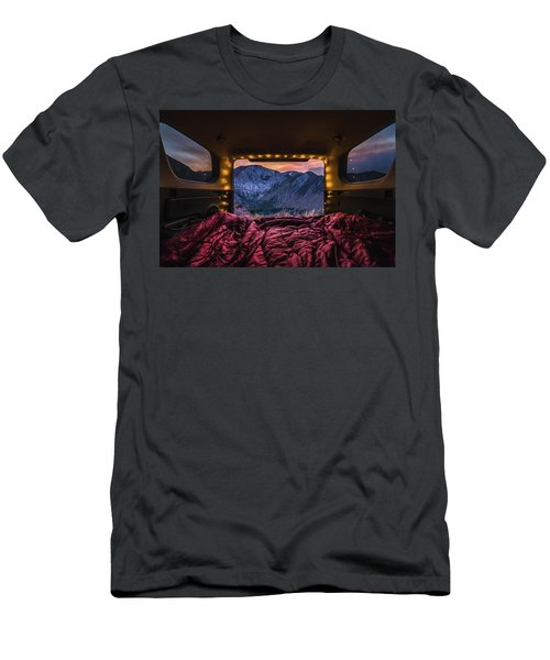 Chasing Sunset Men's T-Shirt (Slim Fit) by Alpha Wanderlust