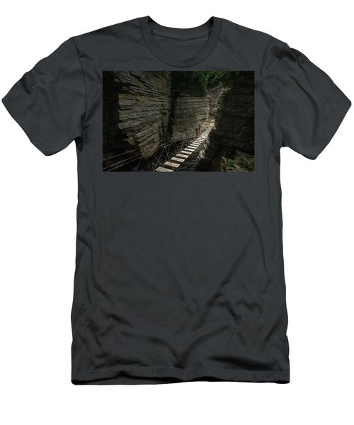 Chasm Bridge Men's T-Shirt (Athletic Fit)