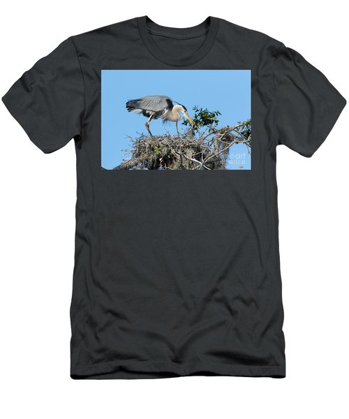 Men's T-Shirt (Slim Fit) featuring the photograph Checking The Eggs by Deborah Benoit