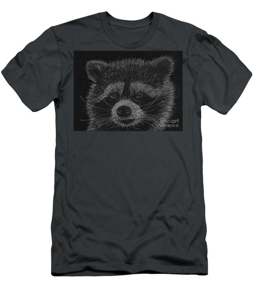 Cheeky Little Guy - Racoon Pastel Drawing Men's T-Shirt (Athletic Fit)