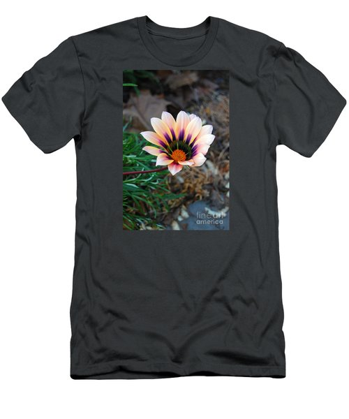 Cheerful Flower Men's T-Shirt (Slim Fit) by Debra Thompson