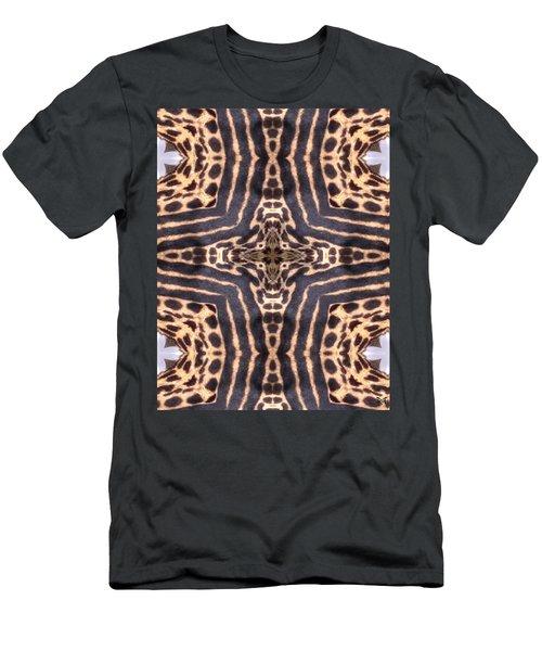 Cheetah Cross Men's T-Shirt (Slim Fit) by Maria Watt