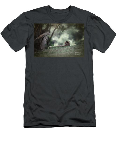 Cheetah On Watch Men's T-Shirt (Athletic Fit)