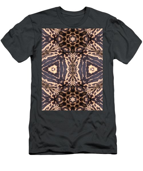 Cheetah Print Men's T-Shirt (Slim Fit) by Maria Watt