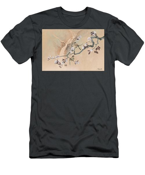 Cherry Blossom Tree And Two Birds Men's T-Shirt (Athletic Fit)