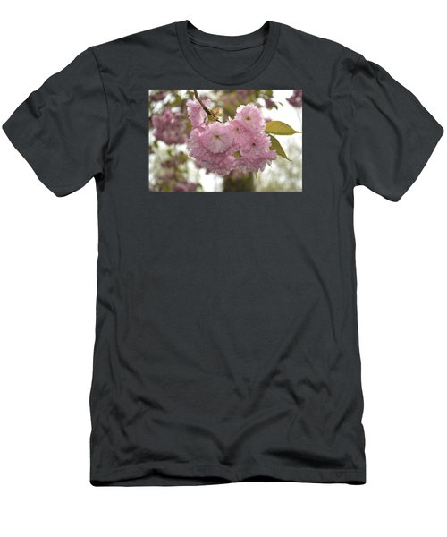 Cherry Blossoms Men's T-Shirt (Slim Fit) by Linda Geiger