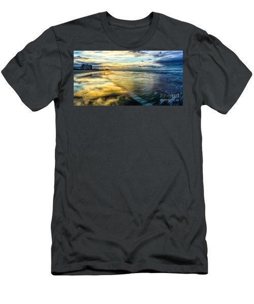 Cherry Grove Golden Shimmer Men's T-Shirt (Slim Fit) by David Smith