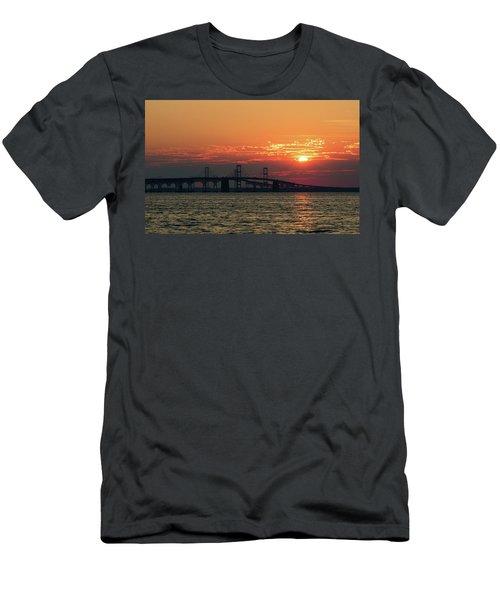 Chesapeake Bay Bridge Sunset 3 Men's T-Shirt (Athletic Fit)