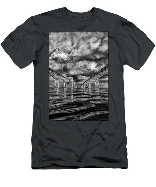 Chesapeake Bay Bw Men's T-Shirt (Athletic Fit)