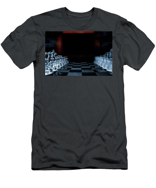 Chess Game Performed By Artificial Intelligence Men's T-Shirt (Slim Fit) by Christian Lagereek