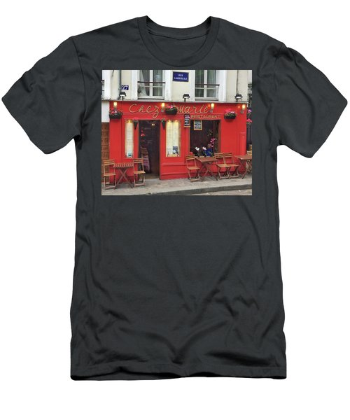 Chez Marie Restaurant, Montmartre, Paris Men's T-Shirt (Athletic Fit)
