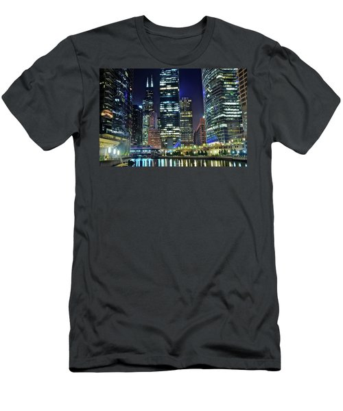 Chicago Towers 2017  Men's T-Shirt (Athletic Fit)