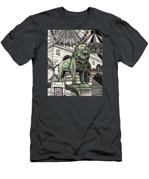 Chicago Art Institute Lion Men's T-Shirt (Athletic Fit)