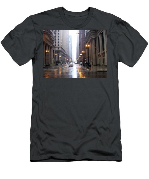 Chicago In The Rain Men's T-Shirt (Athletic Fit)