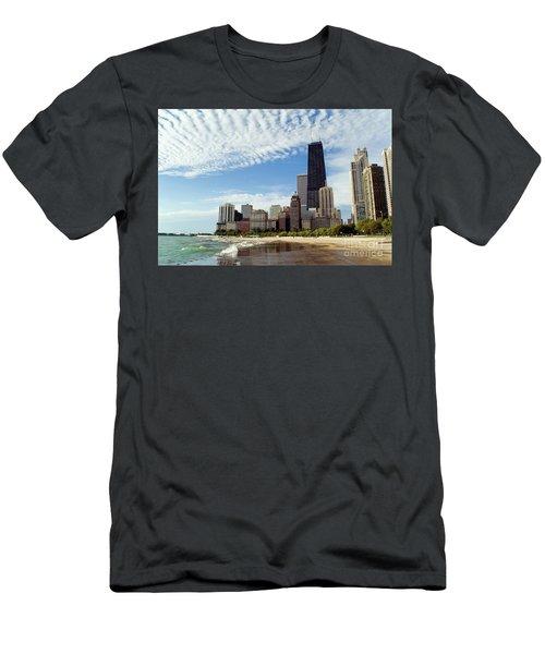 Chicago Lakefront Skyline Men's T-Shirt (Athletic Fit)