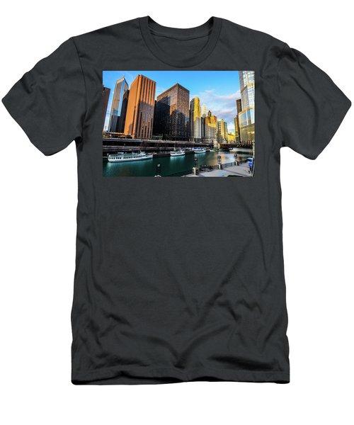Chicago Navy Pier Men's T-Shirt (Athletic Fit)